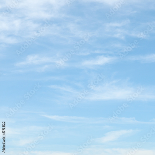 Foto op Canvas Hemel light clouds in the blue sky