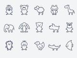 Cartoon animal icons