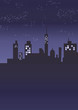 青系の夜景