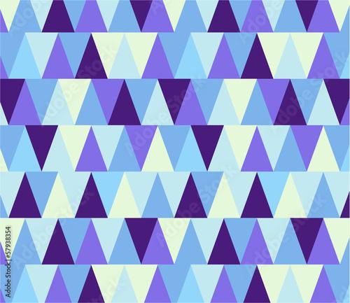 Deurstickers ZigZag Seamless geometric pattern in winter colors