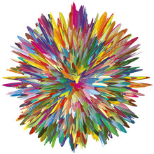 Color Explosion, Symbol For A Creative Mind