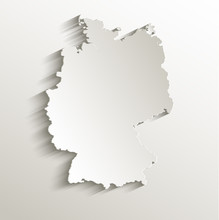 Germany Map Card Paper 3D Natural