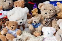 Teddybären Auf Flohmarkt