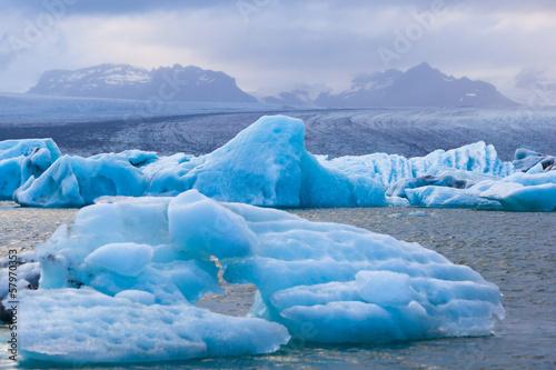 Aluminium Prints Glaciers Jökulsárlón, South Iceland
