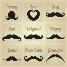 Vector Set Of Hipster Mustache