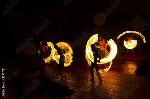 Photo Stands United States Fire Show at Analay resort in Kood island