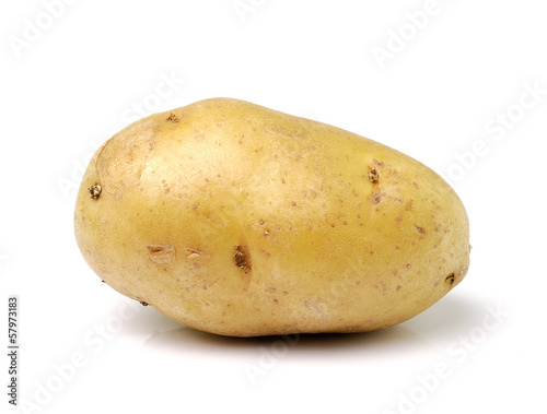 Fotografering potato isolated on white background