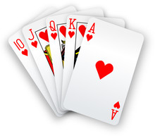 Poker Cards Straight Flush Hea...
