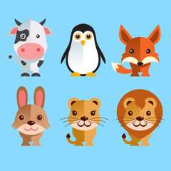 Funny Animals vector illustratio