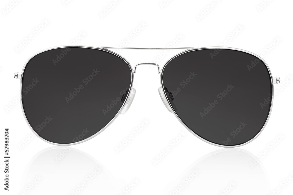 Fotografie, Obraz Sunglasses isolated on white, clipping path included