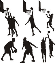 Basketball Players - Silhouette