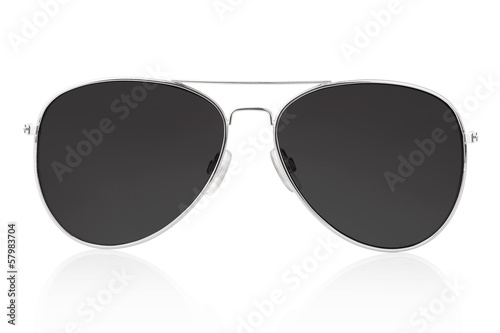Photo Sunglasses isolated on white, clipping path included