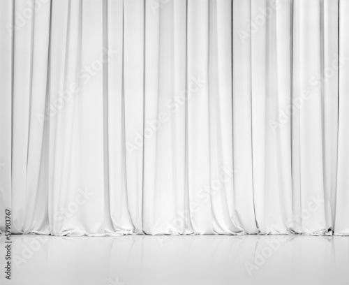 Photo white curtain or drapes background