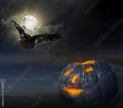 In de dag Volle maan Halloween
