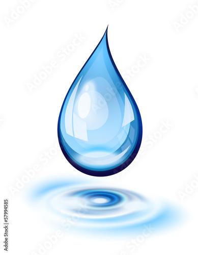 Vászonkép  Water drop icon