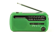 Green Radio Receiver With Sola...