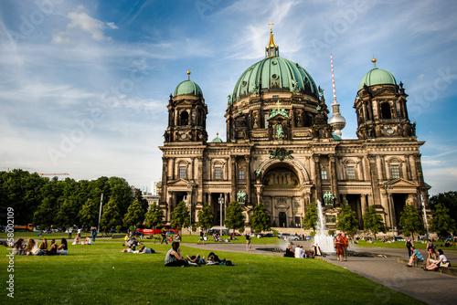 Keuken foto achterwand Berlijn Berliner Dom (Berlin Cathedral) in a Lustgarten of Berlin, Germa