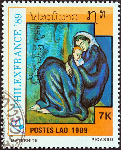 Fotografía  Motherhood by Picasso (Laos 1989)