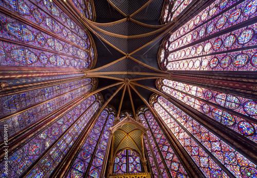 Fotografie, Obraz  Sainte Chapelle, ile de la cite, Paris, France