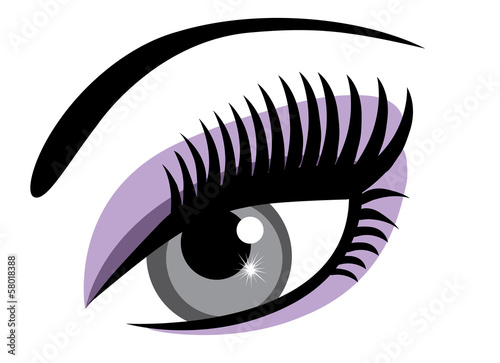 Make Up Stoel : Vector eye with make up buy this stock vector and explore