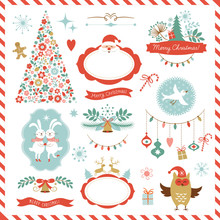 Set Of Christmas Graphic Eleme...