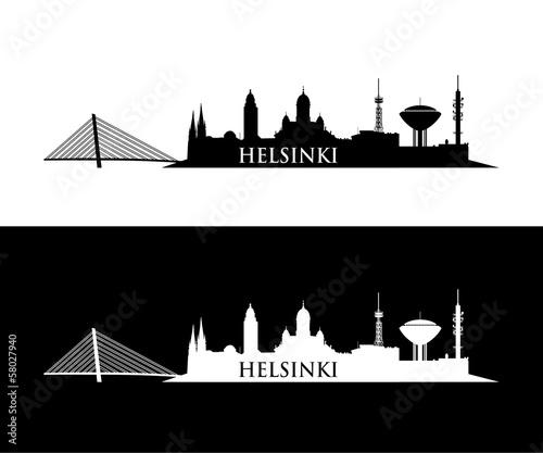 Obraz na plátně Helsinki skyline