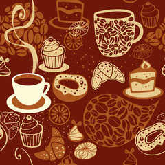 Fototapeta Do kawiarni Coffee seamless pattern