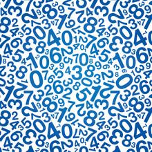 Blue Number Background