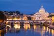 St. Angel Bridge and St. Peter's Basilica, Rome