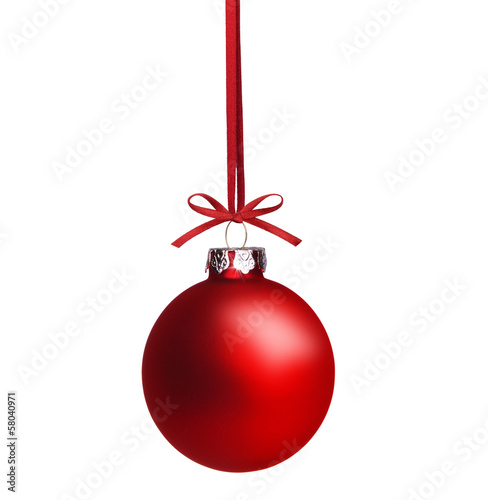 Obraz Rote Weihnachtskugel - fototapety do salonu