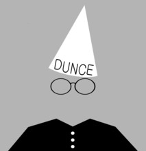 Student Wearing Dunce Cap As P...