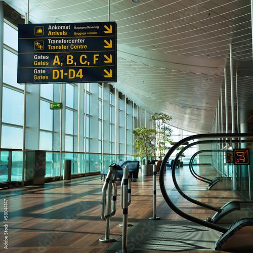 Foto op Aluminium Luchthaven airport terminal