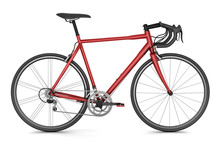 Red Sport Bicycle Isolated On ...