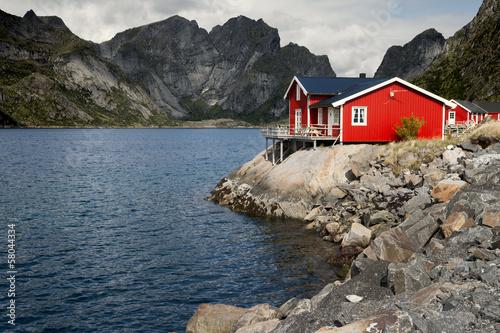Spoed Foto op Canvas Scandinavië Lofoten