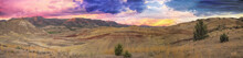 Painted Hills At Sunset Panorama