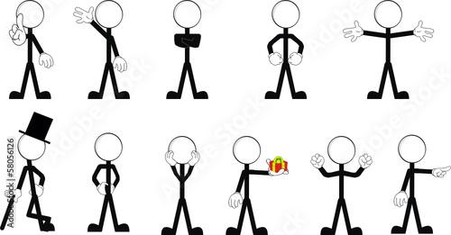 Obraz pictograms stick man vector set2 - fototapety do salonu