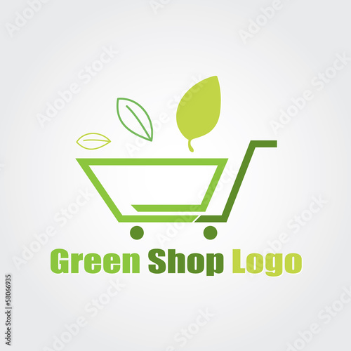 logo e commerce shop store logo vector Wallpaper Mural