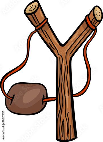 Valokuva  slingshot clip art cartoon illustration
