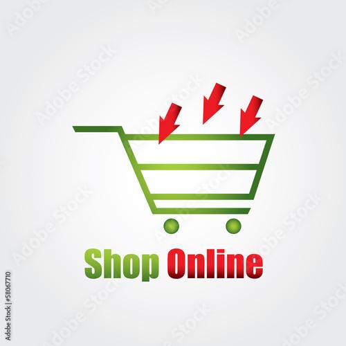 Photo  logo shop online shop store logo vector