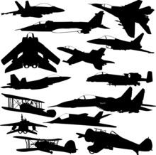 Military Airplanes Collection 1 - Vector