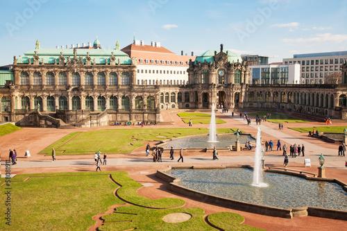 Staande foto Historisch geb. Zwinger Dresden