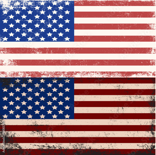 Canvas Prints Retro sign u.s.a flag