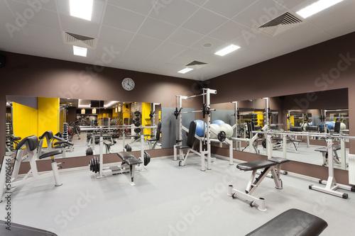 Foto op Plexiglas Fitness Gym equipment