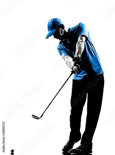 Poster Golf man golfer golfing golf swing silhouette