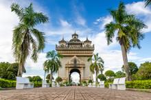 Patuxai Monument In Vientiane,...