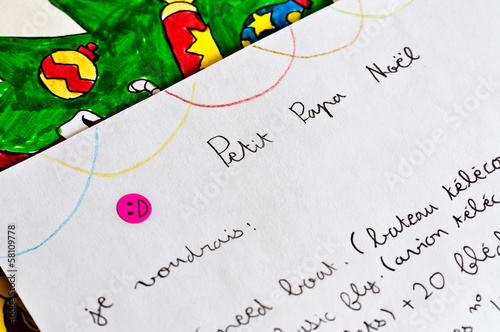 Lettre Au Pere Noel Com.Lettre Au Pere Noel Buy This Stock Photo And Explore