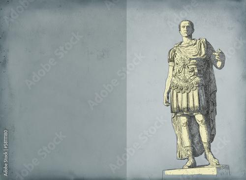 Fotografía  Roman emperor Augustus Caesar statue. Rome