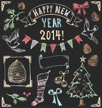 Vintage Christmas Chalkboard H...