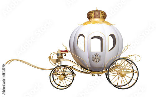 fairy tale royal carriage Canvas Print