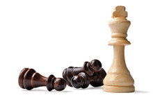 King Chess Piece With Oppositi...